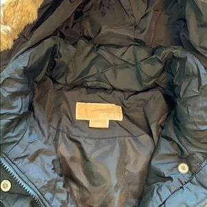 EUC Michael Kors long black down parka with hood M